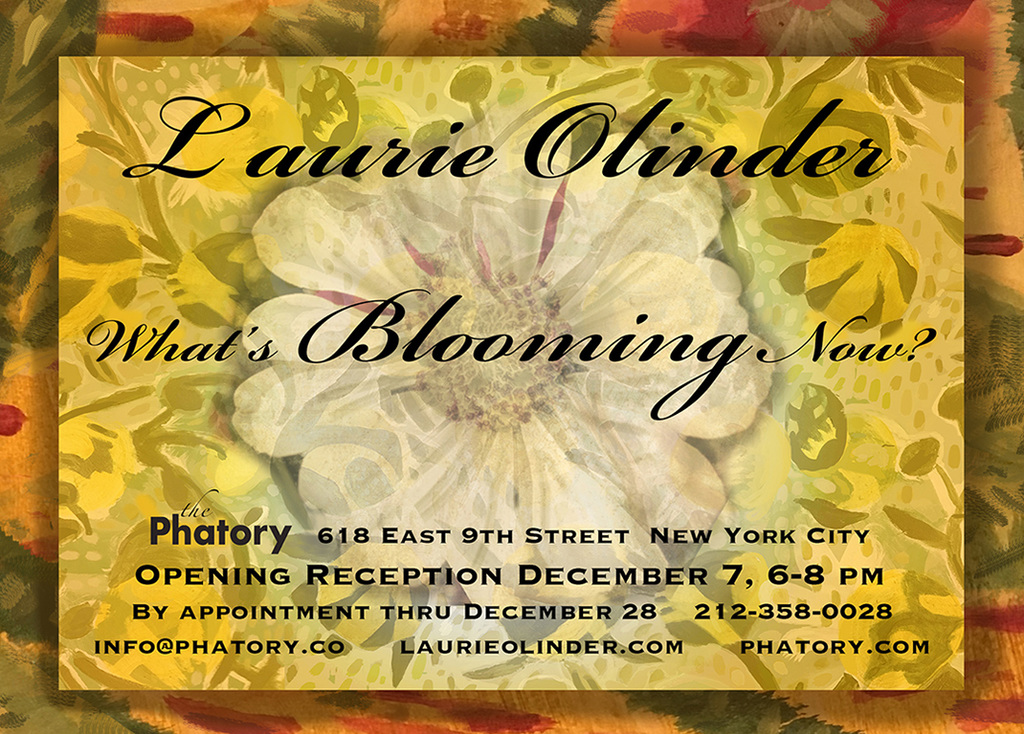 An installation of paintings and textiles by Laurie Olinder